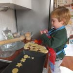 Sunshine making gluten free cheese biscuits