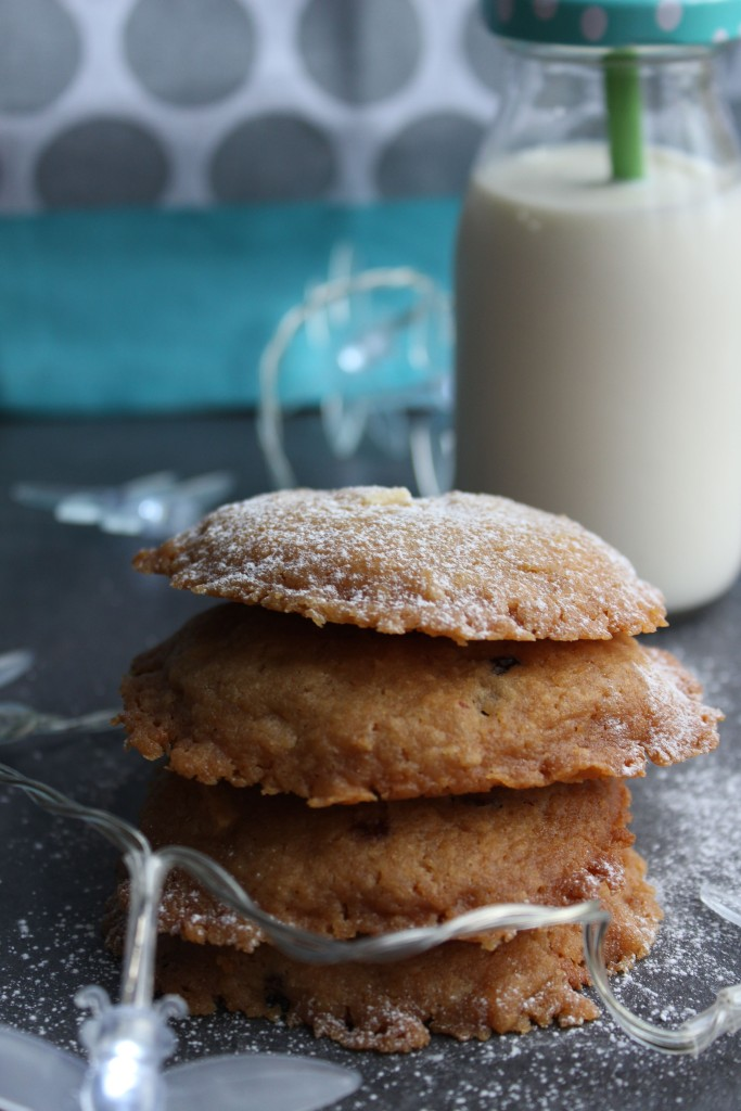 A stack of gluten free cookies made from the Free From Fairy wholegrain gluten free flour blend