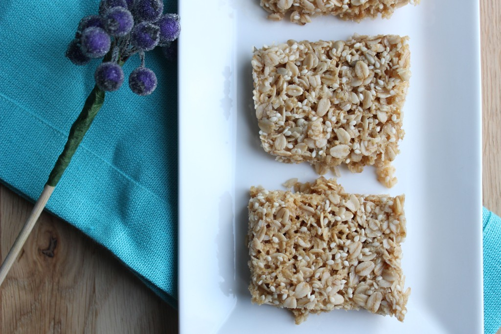 Gluten free flapjacks - view from above