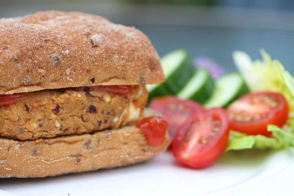 Simple Mexican bean burger