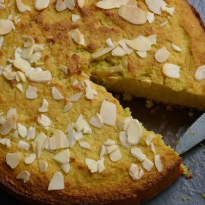 Gluten and dairy-free lemon or orange polenta cake