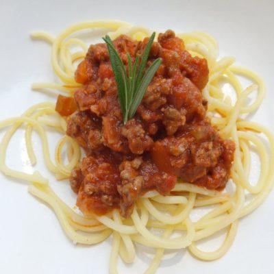 Special spaghetti bolognese