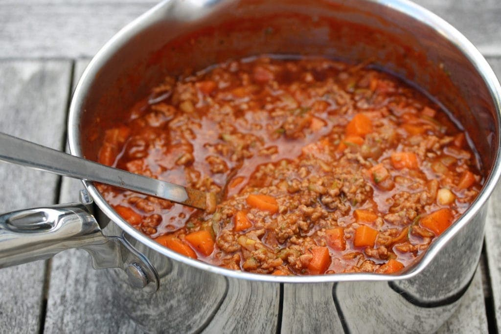 Bolognese sauce ready to serve. #glutenfree #naturallyglutenfreefood #Italianfood