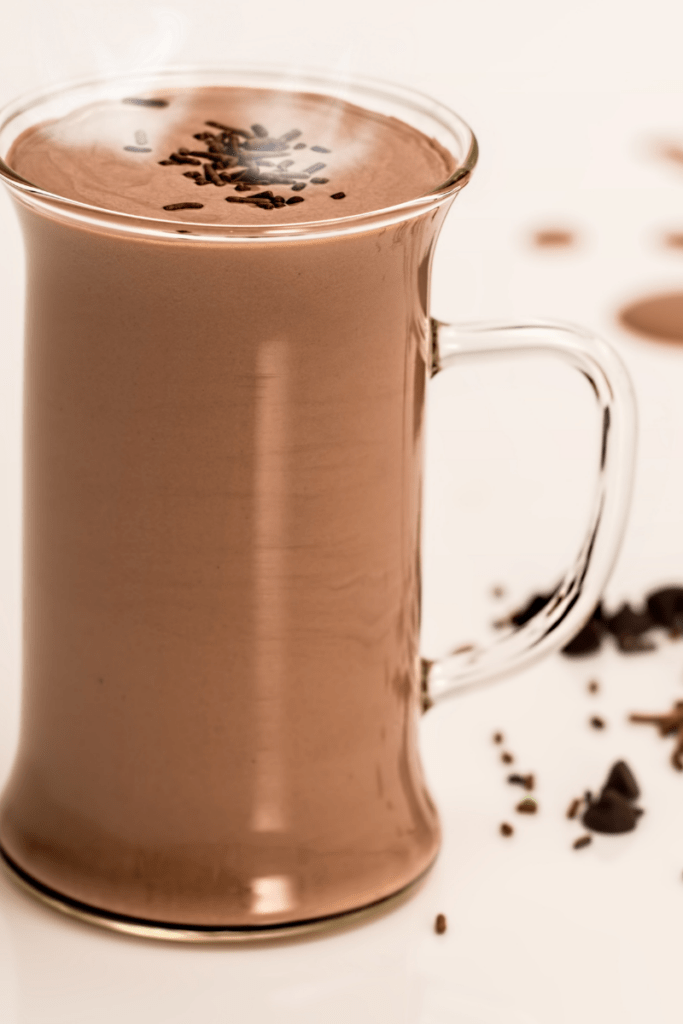 Hot chocolate made with dairy free milk can be a source of calcium without dairy
