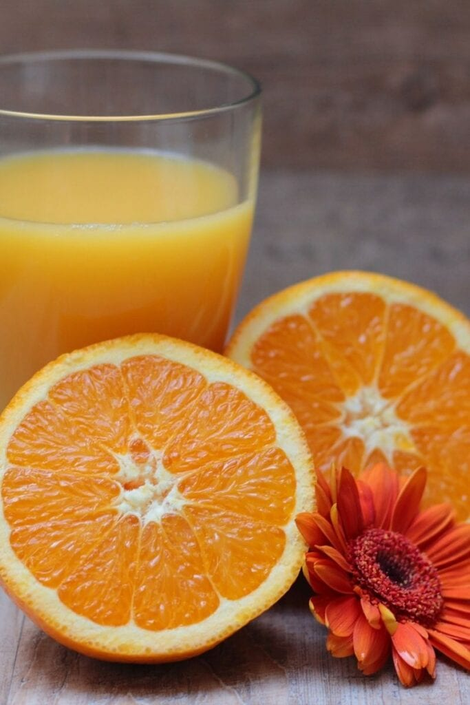 Orange juice - the Tropicana one is fortified with calcium
