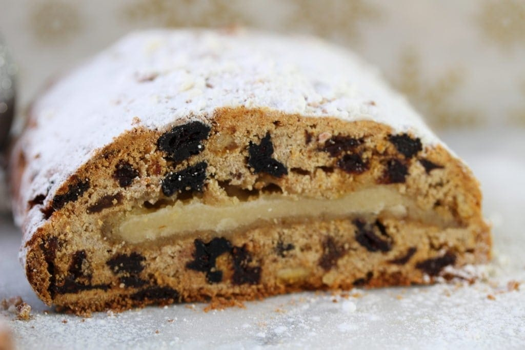 gluten and dairy free stollen made with the Free From Fairy gluten free wholegrain flour