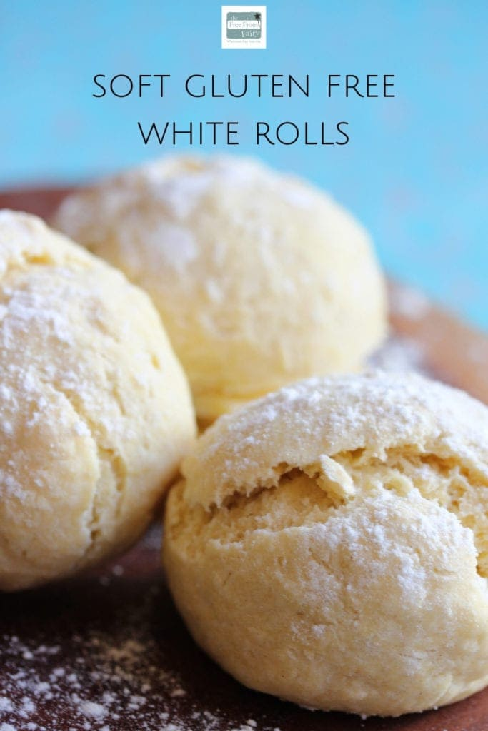 Make simple white gluten free rolls with this recipe from the Free From Fairy. #glutenfree #refinedsugarfree #dairyfree #glutenfreebread #glutenfreeroll #glutenfreebaking