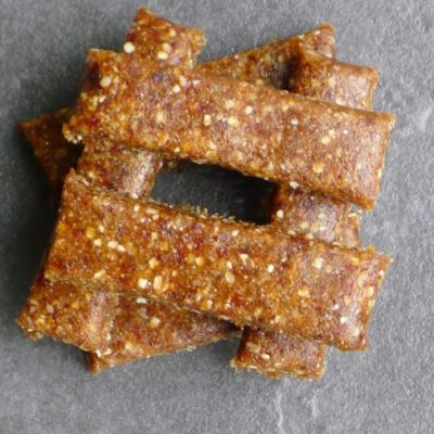 Gluten-free, Dairy-free Raw Date and Ginger Bars