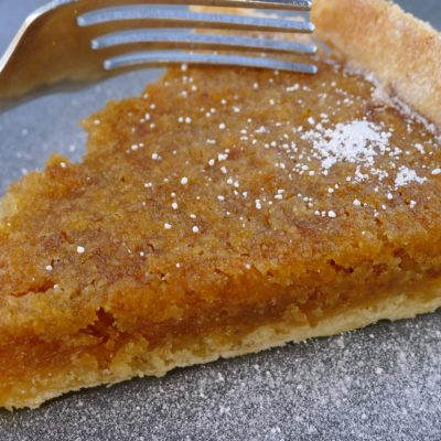 Gluten-free, Dairy-free Treacle and Apple Tart