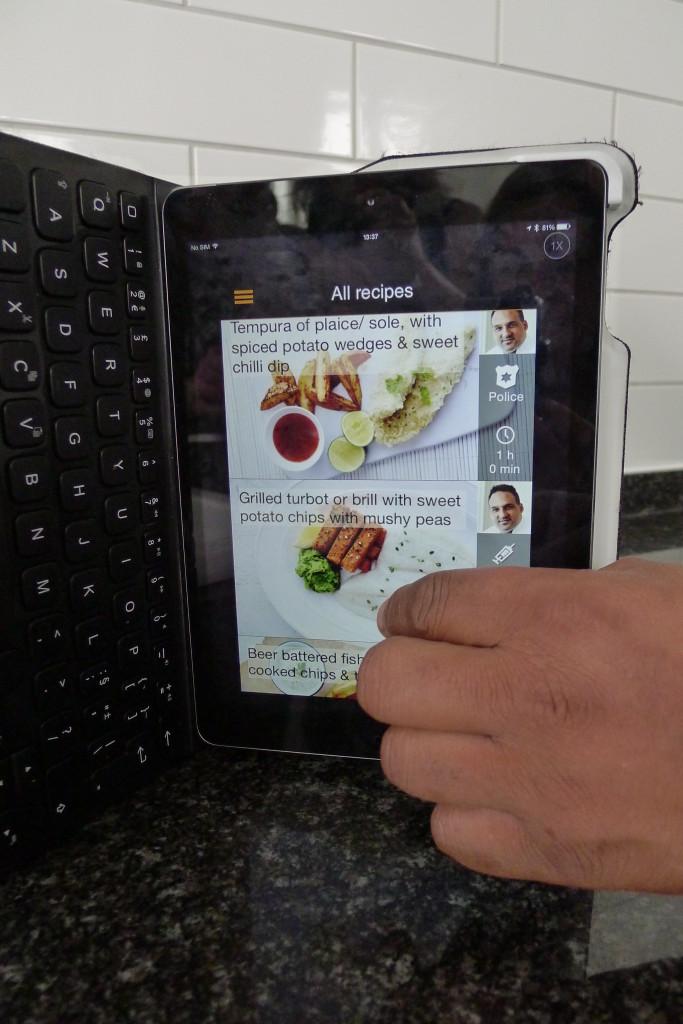 A quick peak at the Uniform Foodies App on Michael's ipad!