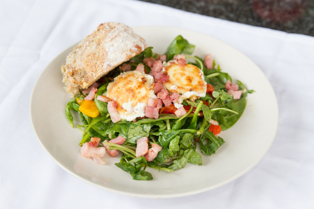 Cherished By Me's Goats Cheese and Bacon Salad