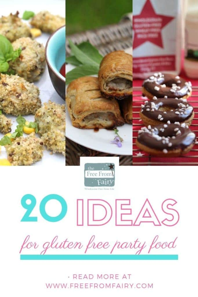 Gluten free party food ideas; gluten free kids party food. My selection of top ideas for gluten free parties including options for dairy free party food too. #glutenfreepartyfood #glutenfreesnacks #dairyfreepartyfood #glutenfreekidspartyfood #coeliacpartyfood