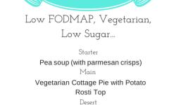 FODMAP menu