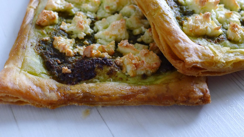 Spinach and feta pie with gluten and dairy free puff pastry