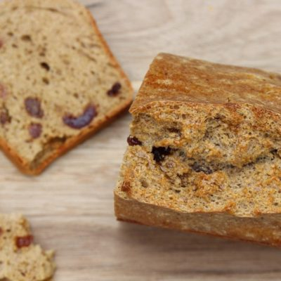 Gluten Free Fruit Loaf Recipe (Refined Sugar Free)