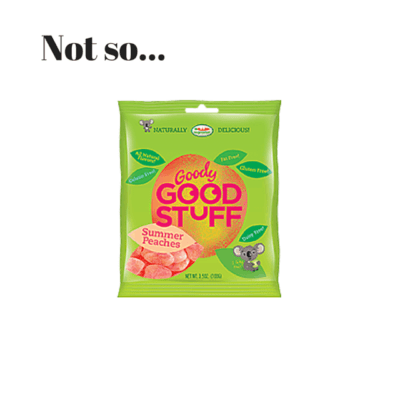Confusing Labelling And A Message To Goody Good Stuff…
