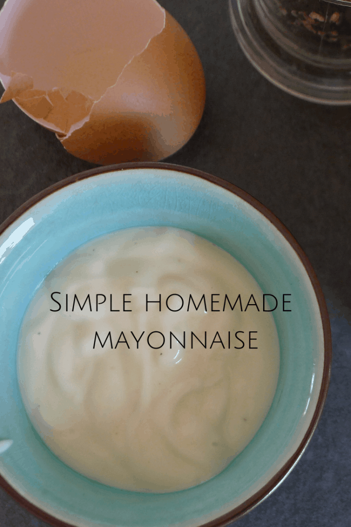 Make this simple homemade mayonnaise in just a couple of minutes. It's the simplest recipe you'll find. #mayonnaise #homemademayonnaise #freefromfairy
