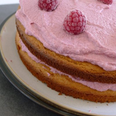 Guilt-free Raspberry & Almond Birthday Cake