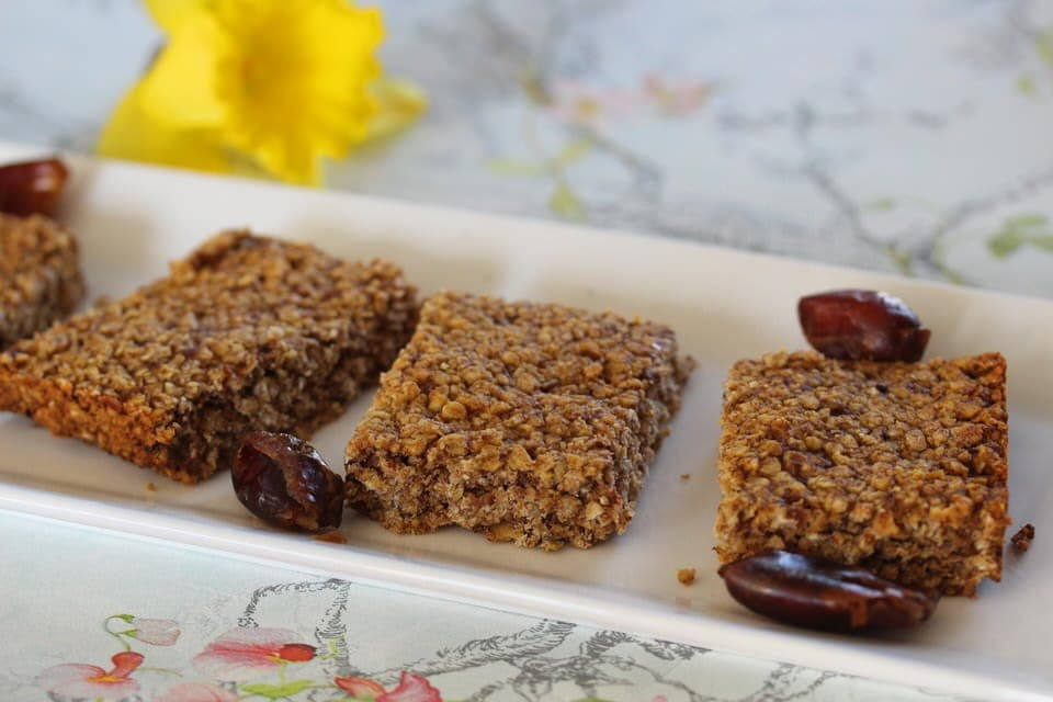Banana and date sugar free and gluten free flapjacks