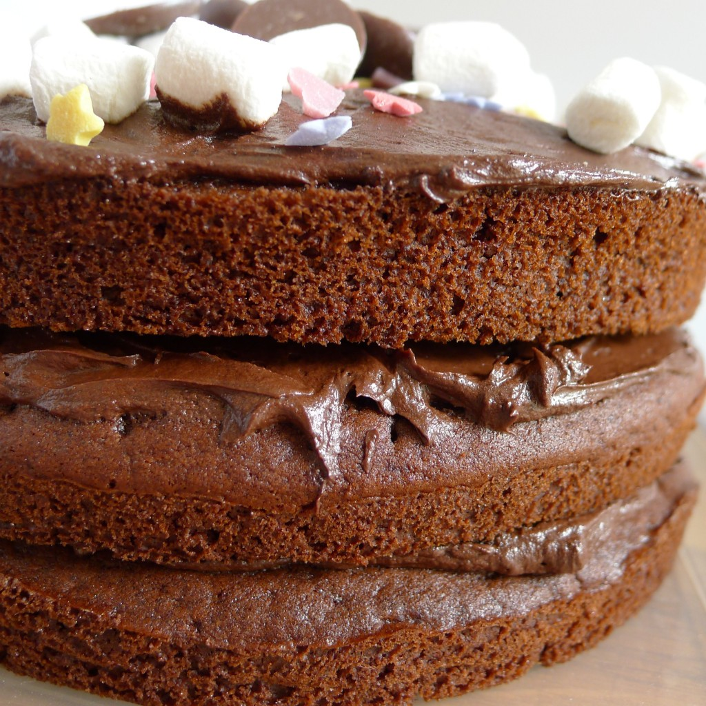 Gluten and dairy free chocolate cake.