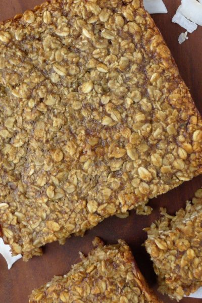 Healthy banana and date flapjacks