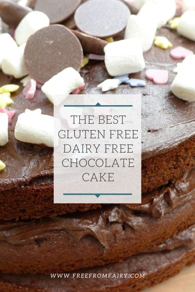 Make the best gluten free dairy free chocolate cake. This recipe is also vegan. #glutenfree #dairyfree #eggfree #vegan #glutenfreechocolatecake #dairyfreechocolatecake