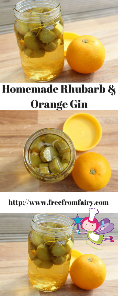 Homemade Rhubarb & Orange Gin