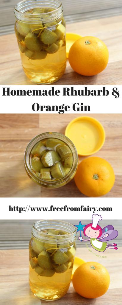 Homemade Rhubarb & Orange Gin