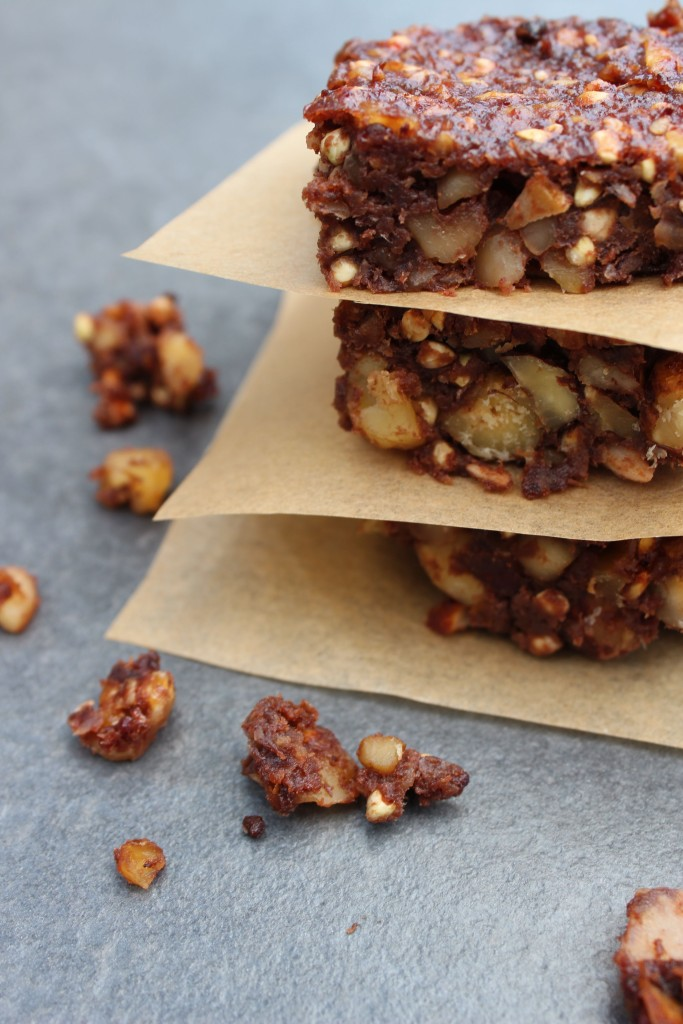 Nutty alternative to flapjacks