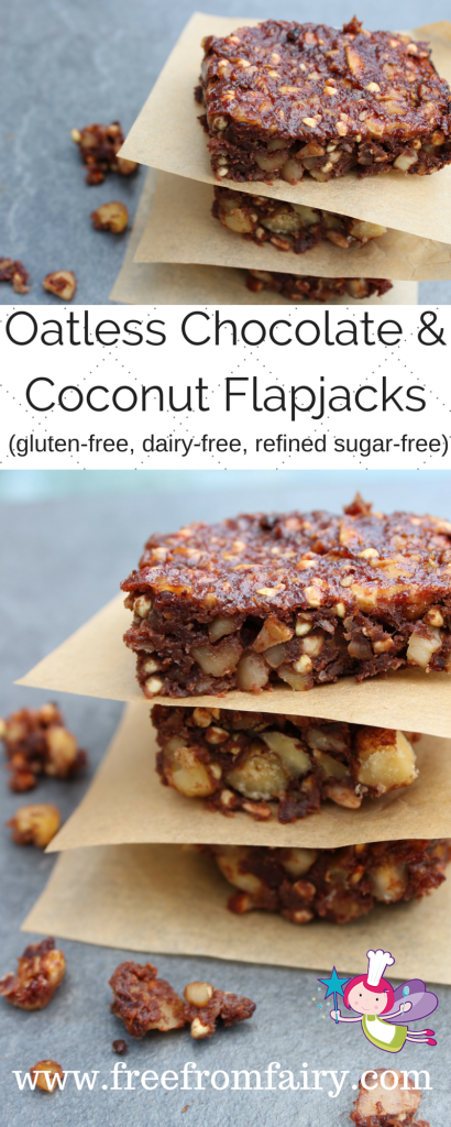 Oat free flapjacks; Chocolate & Coconut Flapjacks