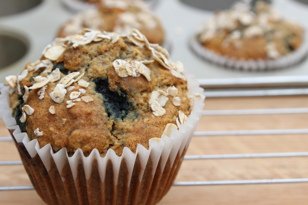Spiced Apple & Blueberry Oaty Muffins