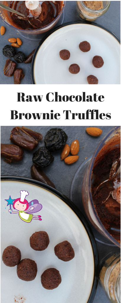 Raw Chocolate Brownie Truffles