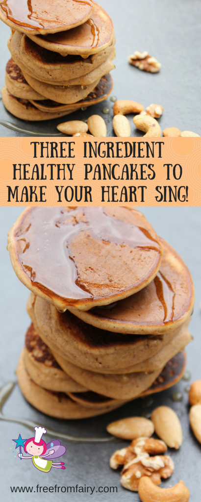 Three ingredient healthy pancakes to