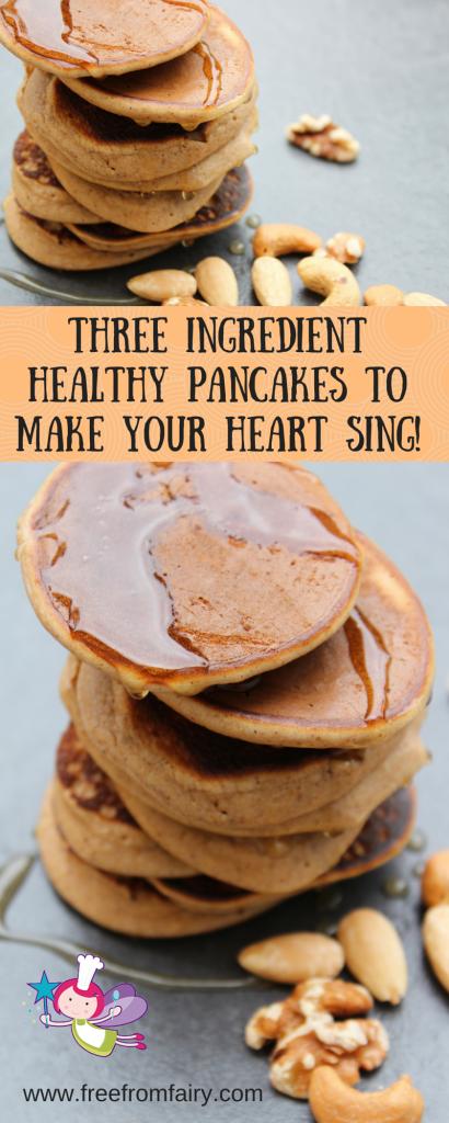 Three ingredient healthy pancakes to