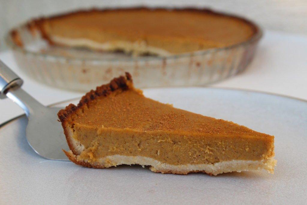 A grain free, refined sugar free, dairy free pumpkin pie