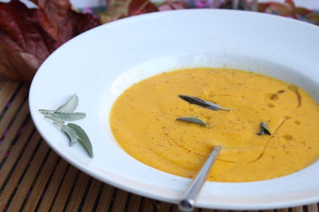 Fabulous dairy free creamy butternut squash soup