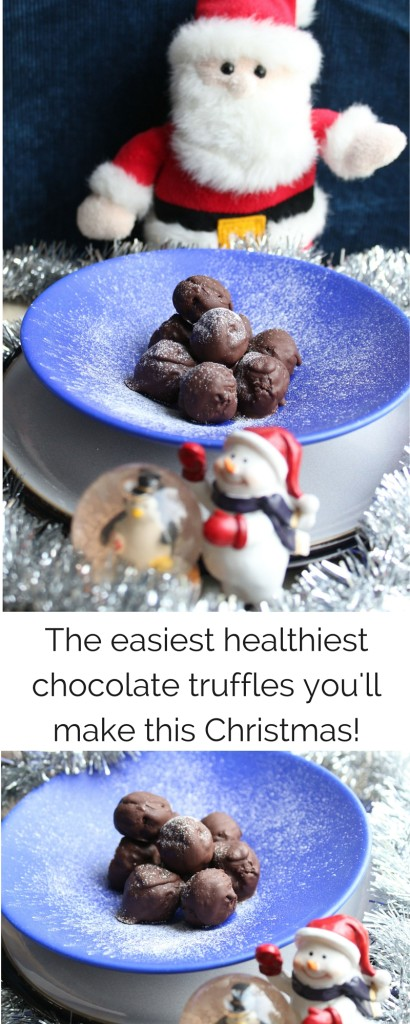 The easiest healthiest chocolate truffles you'll make this Christmas!