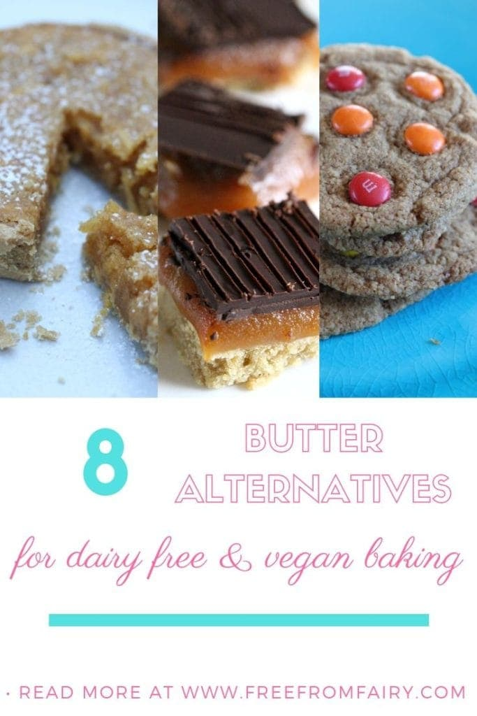 Butter alternatives for dairy free and vegan baking #dairyfreebaking #veganbaking #butteralternative #dairyfreebutter #veganbutter