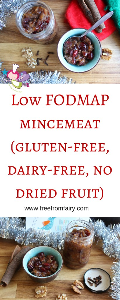 Low FODMAP mincemeat(gluten-free, dairy-free, no dried fruit)