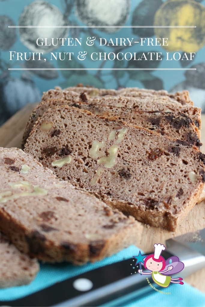 gluten & dairy-freeFruit, nut & chocolate loaf