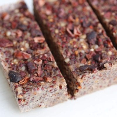 Popped Quinoa & Banana Bars