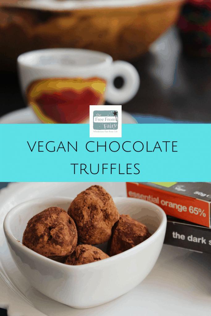 Make these easy vegan chocolate truffles and everyone will love you! #glutenfree #dairyfree #nutfree #soyafree #chocolatetrufflerecipe #chocolatetruffle #veganchocolatetruffle