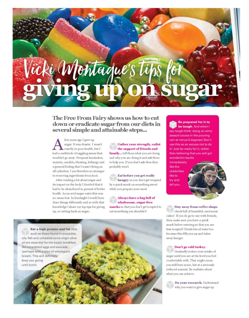Writing in Free From Heaven magazine about quitting sugar