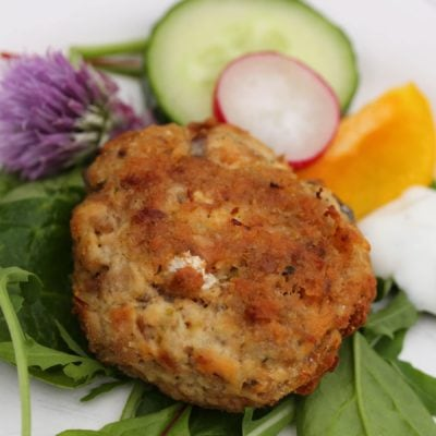 Low Carb Salmon & Lime Fishcakes With Zesty Yoghurt Dressing