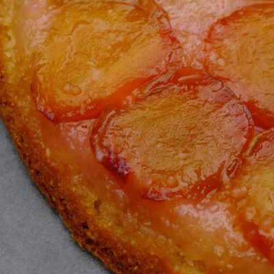 Gluten-Free Plum and Almond Tarte Tatin Cake