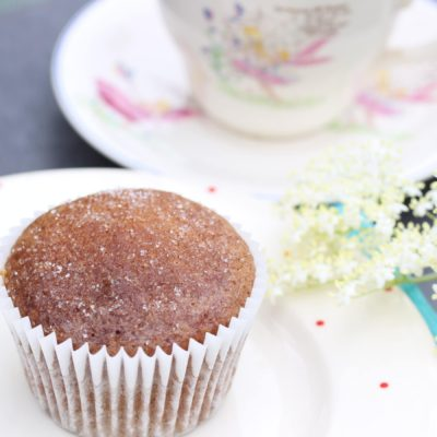Wholegrain Lemon Cupcakes With Elderflower Syrup (Gluten & Dairy Free)