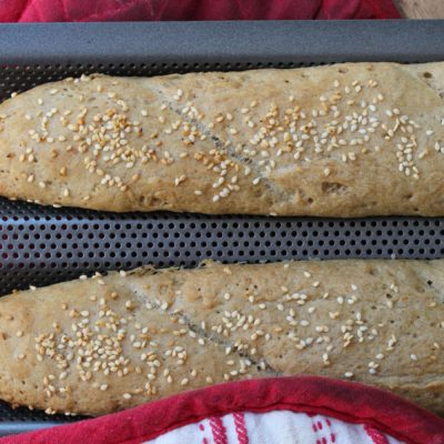 Wholegrain Gluten, Dairy, Sugar & Egg Free Baguette Recipe