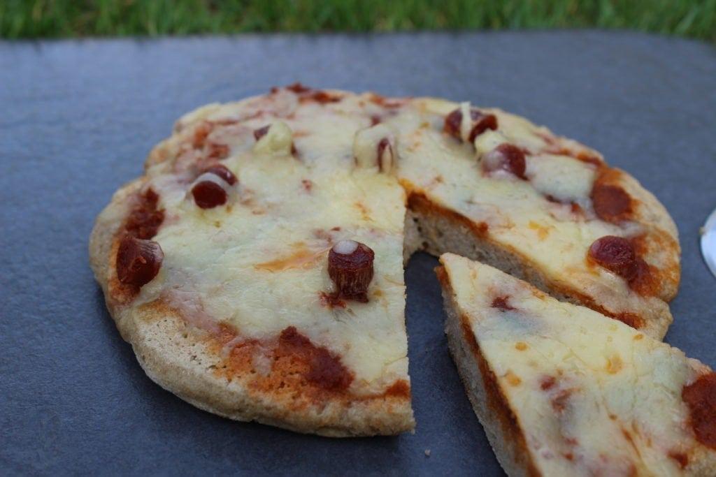 A gluten free frying pan pizza