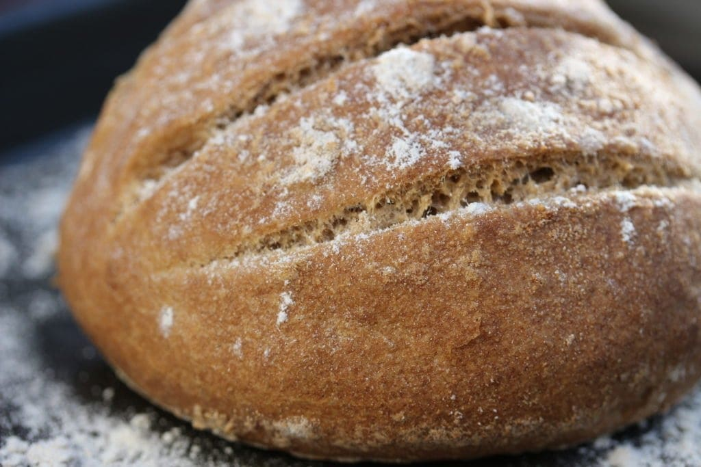 Boule made from gluten-free wholegrain flour blend by the Free From Fairy