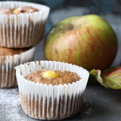 Roo's Spiced Apple & Prune Cupcakes (gluten-free, dairy-free, low-sugar)
